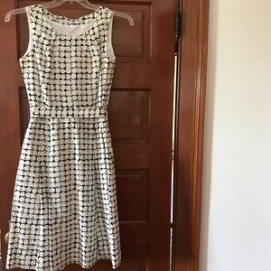 Neiman Marcus A-like belted print dress S